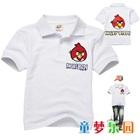 เสื้อโปโลแขนสั้น-Angry-Bird-สีขาว(5size/pack)