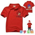 เสื้อโปโลแขนสั้น-Angry-Bird-สีแดง-(5size/pack)