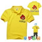 เสื้อโปโลแขนสั้น-Angry-Bird-สีเหลือง-(5size/pack)