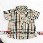 เสื้อเชิ๊ตแขนสั้นลายตาราง-สีน้ำตาล-(5ตัว/pack)