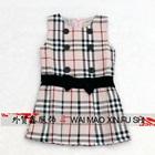 เดรสแขนกุดลายตาราง-สีชมพู-(5-ตัว/pack)