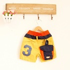กางเกงขาสั้น-No-3-สีเหลือง-(5-ตัว/pack)