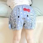 กางเกงยีนส์ขาสั้น-Hello-Kitty-สีฟ้า-(5-ตัว/pack)