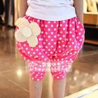 กางเกงขาสามส่วนดอกไม้-สีน้ำเงิน-(5-ตัว/pack)