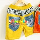 กางเกงขาสั้นลายตาราง-ขอบสีเหลือง-(5-ตัว/pack)
