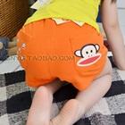 กางเกงขาสั้นลิงยิ้มแย้ม-สีส้ม-(5-ตัว/pack)