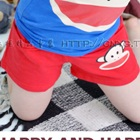 กางเกงขาสั้นลิงยิ้มแย้ม-สีแดง-(5-ตัว/pack)