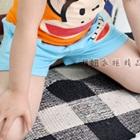 กางเกงขาสั้นลิงยิ้มแย้ม-สีฟ้า-(5-ตัว/pack)