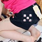 กางเกงขาสั้นลิงยิ้มแย้ม-สีดำ-(5-ตัว/pack)
