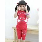 ชุดเสื้อกางเกงลายการ์ตูน-สีชมพู--(5size/pack)