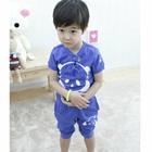 ชุดเสื้อกางเกงลายการ์ตูน-สีฟ้า--(5size/pack)