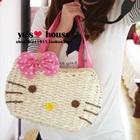 กระเป๋าสาน-Hello-Kitty-สีชมพู-(5-ใบ/pack)