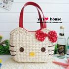 กระเป๋าสาน-Hello-Kitty-สีแดง-(5-ใบ/pack)