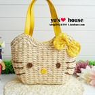 กระเป๋าสาน-Hello-Kitty-สีเหลือง-(5-ใบ/pack)