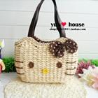 กระเป๋าสาน-Hello-Kitty-สีน้ำตาล-(5-ใบ/pack)