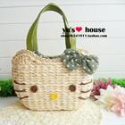 กระเป๋าสาน-Hello-Kitty-สีเขียว-(5-ใบ/pack)