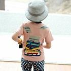 เสื้อยืดแขนสั้นเครื่องพิมพ์ดีด-สีชมพู-(5-ตัว/-pack