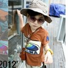 เสื้อยืดแขนสั้น-Ride-the-surf-สีน้ำตาล-(5-ตัว/-pac