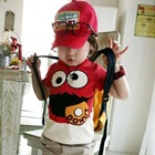 เสื้อยืดแขนสั้น-Smile-Donut-สีแดง-(5-ตัว/-pack)