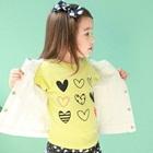 เสื้อยืดแขนสั้น-Lovely-heart-สีเหลือง-(5-ตัว/-pack
