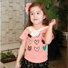 เสื้อยืดแขนสั้น-Lovely-heart-สีชมพู-(5-ตัว/-pack)