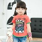 เสื้อยืดแขนสั้น-Party-Kids-สีแดงแตงโม-(5-ตัว/-pack