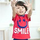 เสื้อยืดแขนสั้น-Smile-สีชมพู-(5-ตัว/-pack)
