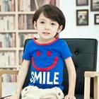 เสื้อยืดแขนสั้น-Smile-สีน้ำเงิน-(5-ตัว/-pack)