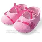 รองเท้าเด็กดอกไม้ผูกโบว์-สีชมพู-(6-คู่/แพ็ค)
