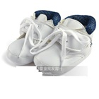 รองเท้าผ้าใบเด็กใบไม้ต้นไม้-สีขาว-(4-คู่/แพ็ค)