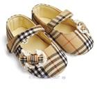 รองเท้าเด็ก-Burberry-ลายตาราง-สีน้ำตาล-(6-คู่/แพ็ค