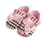 รองเท้าเด็ก-Burberry-ลายตาราง-สีชมพู-(6-คู่/แพ็ค)