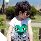 เสื้อยืดแขนสั้น-หัวใจดวงใหญ่-สีเขียว-(5size/pack)