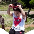 เสื้อยืดแขนสั้น-หัวใจดวงใหญ่-สีแดง-(5size/pack)