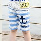 กางเกงขาสั้นลายขวางสมอเรือ-สีฟ้า-(5-ตัว/pack)