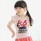 เสื้อยืดแขนสั้น-Ribbon-Minnie-สีชมพู-(5size/pack)