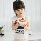 เสื้อยืดแขนสั้น-Ribbon-Minnie-สีขาว-(5size/pack)