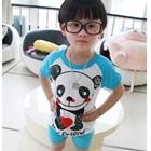 ชุดเสื้อกางเกงหมีแพนด้า-สีฟ้า-(5size/pack)
