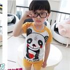 ชุดเสื้อกางเกงหมีแพนด้า-สีส้ม-(5size/pack)