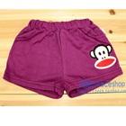 กางเกงขาสั้นลิงยิ้มแย้ม-สีม่วง-(4-ตัว/pack)