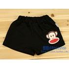 กางเกงขาสั้นลิงยิ้มแย้ม-สีดำ-(4-ตัว/pack)