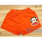 กางเกงขาสั้นลิงยิ้มแย้ม-สีส้ม-(4-ตัว/pack)