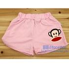 กางเกงขาสั้นลิงยิ้มแย้ม-สีชมพูอ่อน-(4-ตัว/pack)