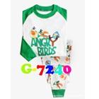 ชุดนอน-Angry-Bird-สีขาวแขนเขียว-(6-ตัว/pack)