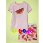 ชุดนอนเแตงโม-สีชมพู-(6-ตัว/pack)