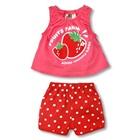 ชุดเสื้อกางเกงสตอเบอรี่-สีชมพู-(5size/pack)