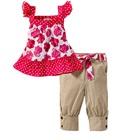 ชุดเสื้อกางเกงดอกกุหลาบเล็กๆ-สีชมพู(5size/pack)