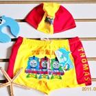 กางเกงว่ายน้ำพร้อมหมวก-Thomas-สีเหลือง-(5-ตัว/pack