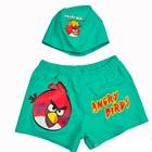 กางเกงว่ายน้ำพร้อมหมวก-Angry-Bird-สีเขียว-(5-ตัว/p