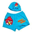 กางเกงว่ายน้ำพร้อมหมวก-Angry-Bird-สีฟ้า-(5-ตัว/pac
